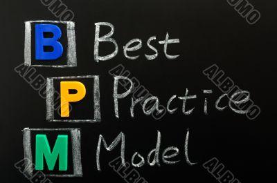 Acronym of BPM - Best Practice Model