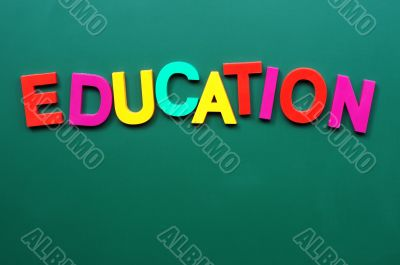 Education - word made of colorful letters