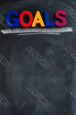 Goals background with copy space