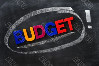Budget - word made of colorful letters