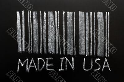 Barcode written on a blackboard