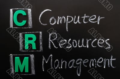 Acronym of CRM - Computer Resources Management