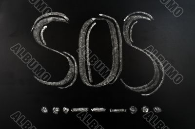 SOS international Morse Code