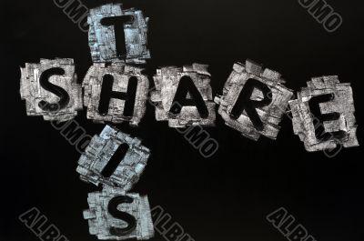 Crossword of Share Here