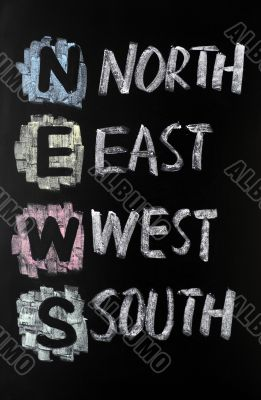 Acronym of News - North,East,West,South