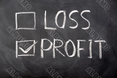 Loss and profit check boxes