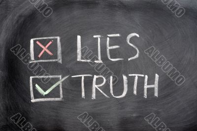 Crossing out lies and choosing truth