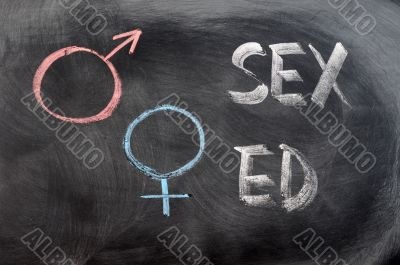 Sex education with gender symbols