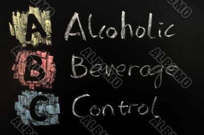 Acronym of ABC - alcohol beverage control