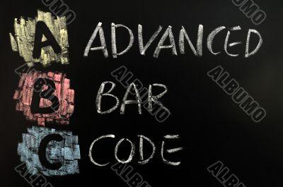 Acronym of ABC - Advanced Bar Code