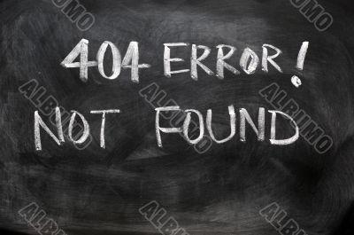 404 error of not found