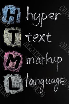 HTML acronym - hyper text markup language