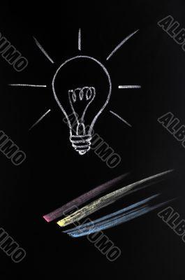 Light bulb,symbol of innovation