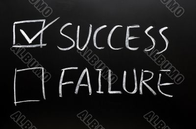 Check boxes of success and failure
