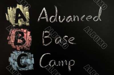 Acronym of ABC - Advanced Base Camp