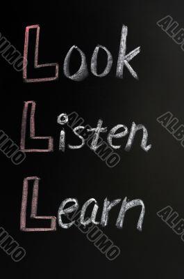 Look,listen,learn