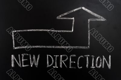 New direction with a big arrow