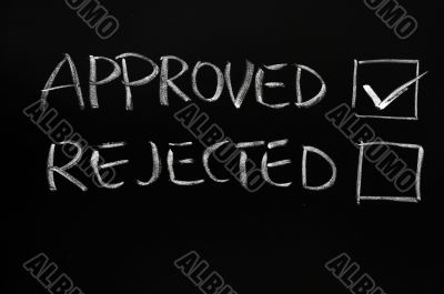 Approved and rejected checkboxes