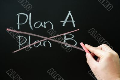 Crossing out Plan B and choosing Plan A
