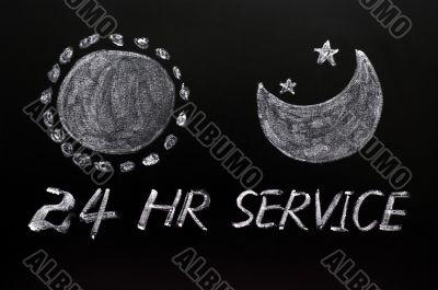 24 hour service concept