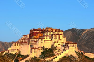 Landmark of Potala Palace in Tibet