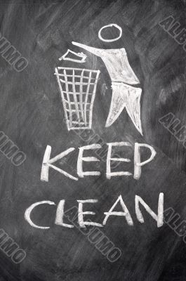 Keep clean drawn on a blackboard
