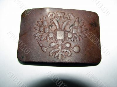 Ancient buckle of the Russian soldier.