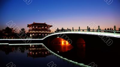 Night scenes of Xian,China