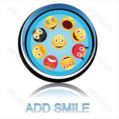 Button add smile