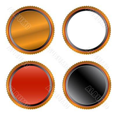 Four unique buttons