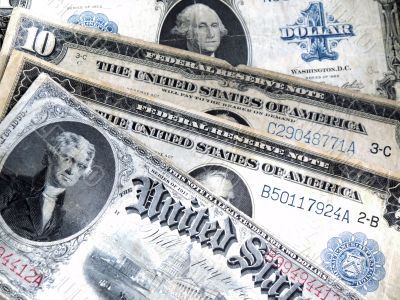 Old banknotes of the USA