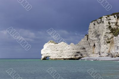 beautiful scene of Etretat rocks (Normandy, France)