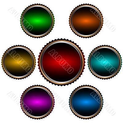 Seven web icons