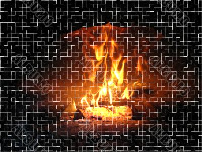 Flame in the furnace