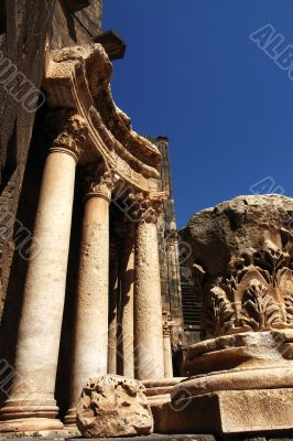 Ancient Roman time theater Relics in Syria