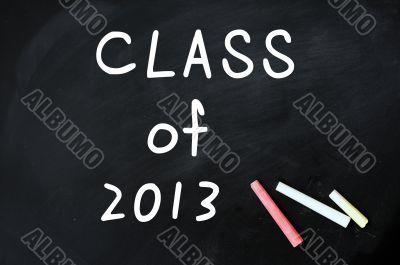 Class of 2013 on a blackboard