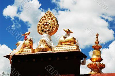 Golden Roof of a Tibetan lamasery