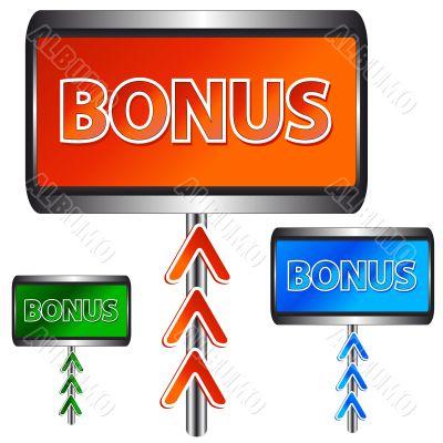 Three bonus icons