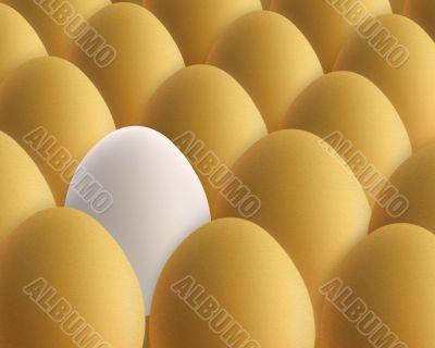 unique white egg