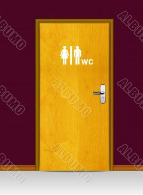 WC Water Cycle door