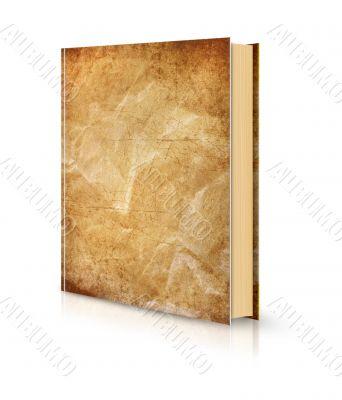 Grunge crumpled book cover white
