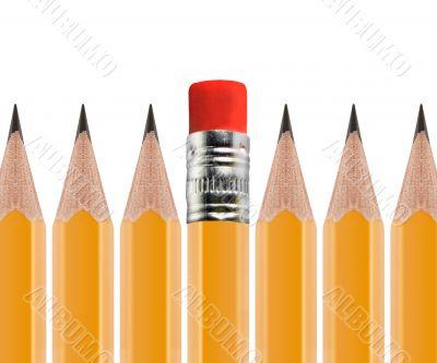 unSharpened pencil flipped