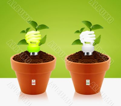 modern energy-saving concept