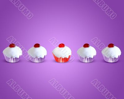 special attractive red muffin cake