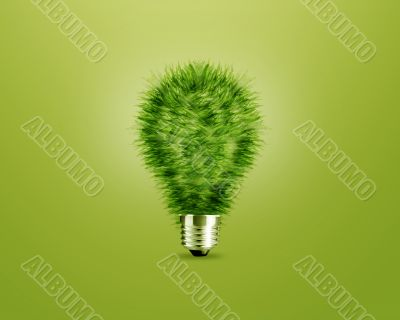 Green light bulb idea