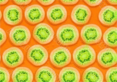 seamless background of fresh Kiwi  slices