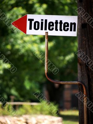 Bathroom arrow