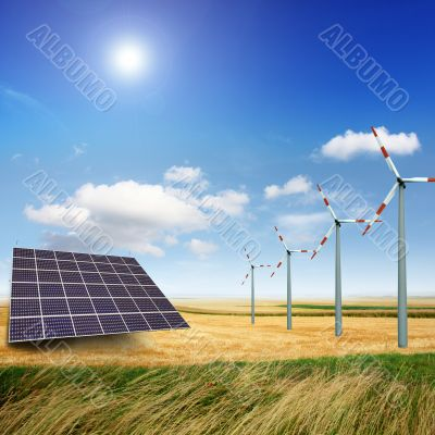 windmill and photovoltaic