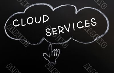 Cloud services with hand cursor