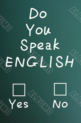 Do you speak English check boxes